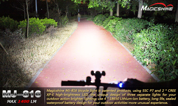 MagicShine MJ-816E LED Bike light 1400 Lumens