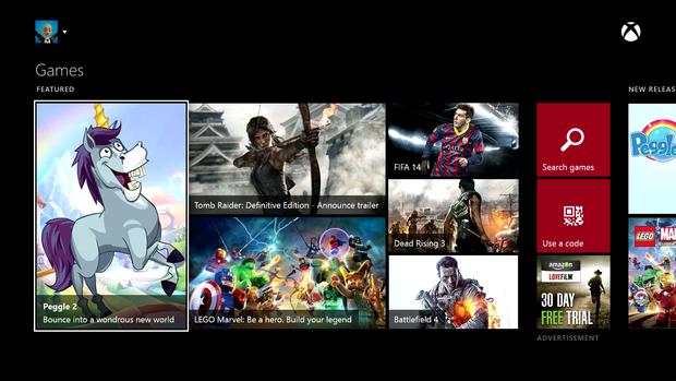 Billede der viser Xbox One Game Store